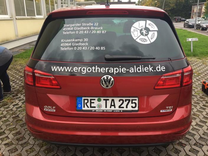 disigns - Aldiek Ergotherapie Autobeklebung